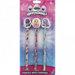 Hatchimals HB ceruzák ceruzavéggel 3 darabos szett Táska, sulis felszerelés - Hatchimals plüssök tojásban Hatchimals