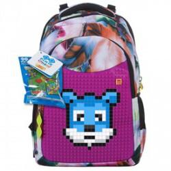 Pixie iskolás hátizsák, iskolatáska - rózsaszín-fekete - PIXIE iskolatáskák - PIXIE iskolatáskák Pixie