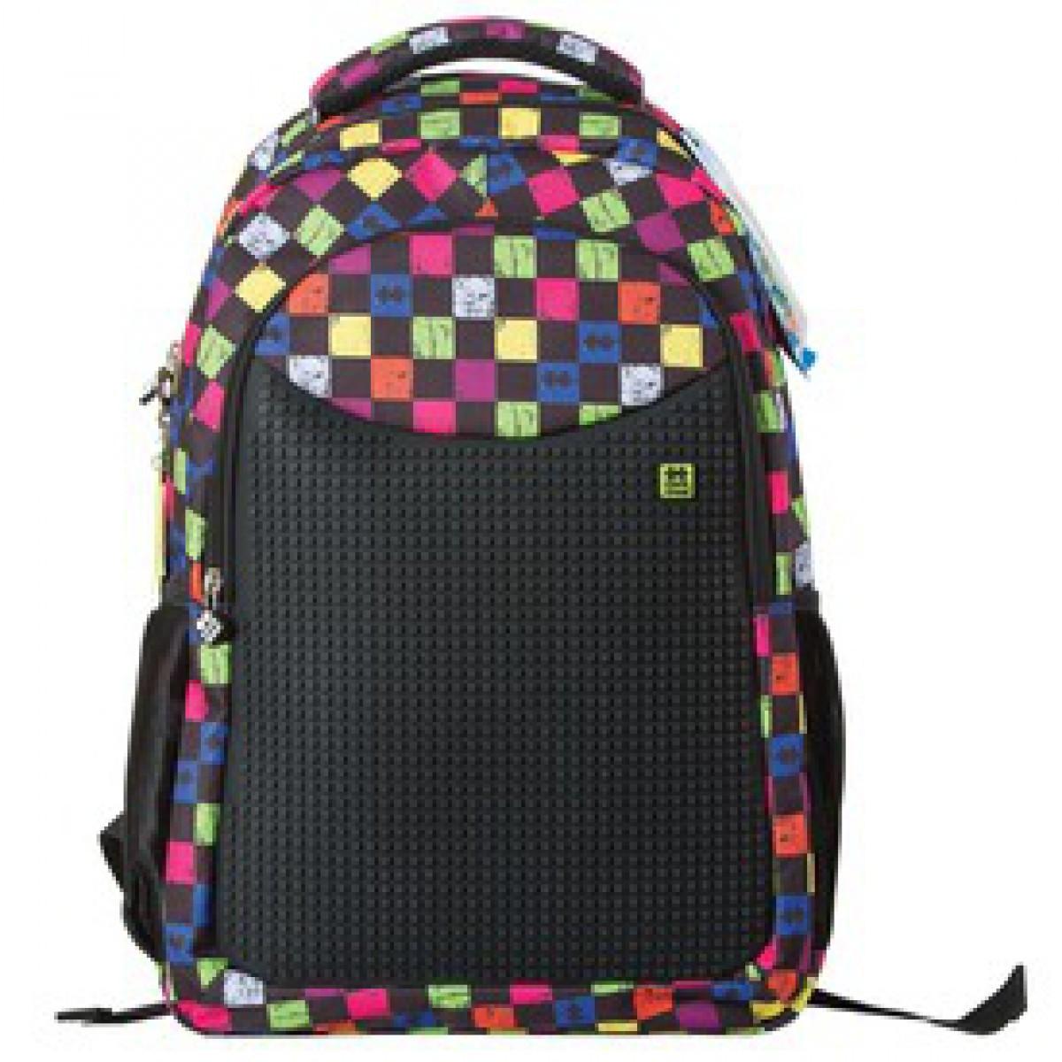 488191295944 Pixie iskolás hátizsák, iskolatáska - fekete, kockás - PIXIE iskolatáskák