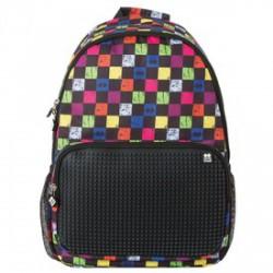 Pixie iskolás hátizsák, iskolatáska - fekete, kockás - PIXIE iskolatáskák - PIXIE iskolatáskák Pixie