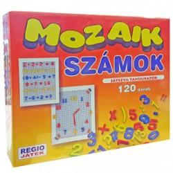 Mozaik számok 120 darabos készlet - Lena golyófuttató, pötyi, műanyag játékok - Lena golyófuttató, pötyi, műanyag játékok