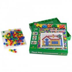 Mozaik képkirakó 120 darabos készlet - Lena golyófuttató, pötyi, műanyag játékok - Lena golyófuttató, pötyi, műanyag játékok