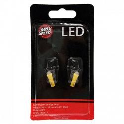 MaxSpeed T5 LED izzó pár - 12V - Sárga - LED - LED