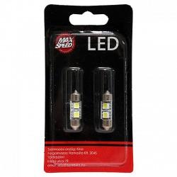 MaxSpeed 2x SMD LED Szofita izzó pár - 32mm - 12V - Fehér - LED - LED