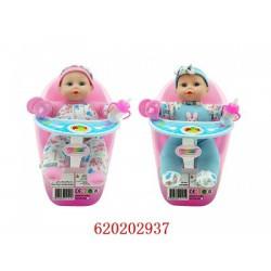 Baba etetőszékben 28cm többféle színben - Lányos játékok - Lányos játékok