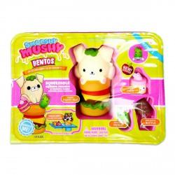 Smooshy Mushy Bento kiskutya a hamburgerével figurakészlet Smooshy Mushy játékok - Lányos játékok Smooshy Mushy