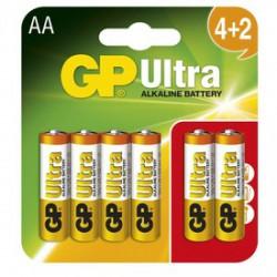 GP Ultra AA ceruzaelem 4+2 darabos készlet - ELEMEK - ELEMEK GP