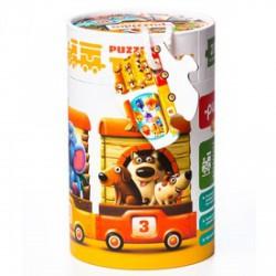 Cubika Vonat 20 darabos XXL puzzle - CUBIKA bébijátékok - Bébijátékok CUBIKA