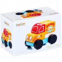 Cubika Fa cirkuszi teherautó, bébijáték - narancssárga - Az első fajátékaim - Az első fajátékaim CUBIKA