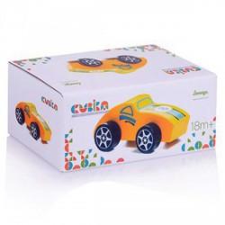 Cubika Fa versenyautó bébijáték - narancssárga - Az első fajátékaim - Az első fajátékaim CUBIKA