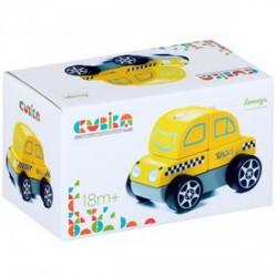 Cubika Fa taxi autó, bébijáték - sárga - Az első fajátékaim - Az első fajátékaim CUBIKA