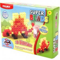 Paulinda Super Beads 3D dinoszaurusz gyöngykészlet 120 darabos szett - PAULINDA Super beads gyöngyök - Lányos játékok Paulinda