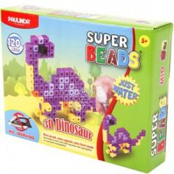 Paulinda Super Beads 3D dínós gyöngykészlet 120 darabos szett - PAULINDA Super beads gyöngyök - Lányos játékok Paulinda