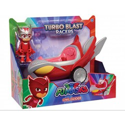 Pizsihősök turbó autó figurával Bagoly ( OWL-GLIDER ) - 20 cm - PIZSIHŐSÖK figurák és játékok - PIZSIHŐSÖK figurák és játékok Pizsihősök