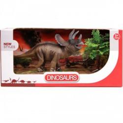 Triceratops dínó készlet bokorral - 20 cm - Dínós játékok - Dínós játékok