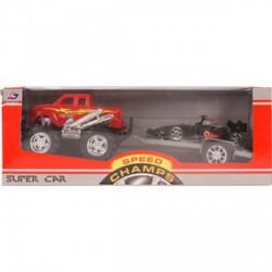 Autószállító versenyautóval - 32 cm, többféle színben - Pályák, kisautók - Bébijátékok