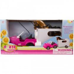 Horse Show terepjáró lóval és utánfutóval - Barbie babák - Barbie babák