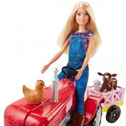 Barbie farmer baba traktorral - Barbie babák - Barbie babák Barbie