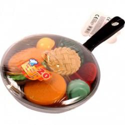 Élelmiszerek serpenyőben 17 darabos készlet - Bébijátékok - Bébijátékok