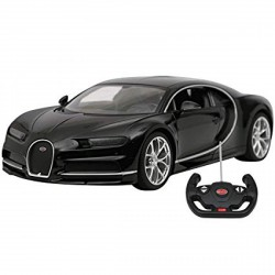 Rastar Bugatti Chiron távirányítós autó - fekete, 1:14 RASTAR - Pályák, kisautók Rastar