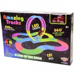 Amazing tracks világító autópálya autóval - 350 cm - Pályák, kisautók - Pályák, kisautók