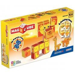 Geomag Magicube szafari állatok 14 darabos mágneses kockaépítő szett - Geomag építőjátékok - Építőjátékok Geomag Magicube