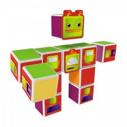 Geomag Magicube robotok 11 darabos mágneses kockaépítő szett - Geomag építőjátékok - Építőjátékok Geomag Magicube