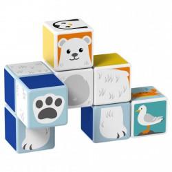 Geomag Magicube sarkvidéki állatok 8 darabos mágneses kockaépítő szett - Geomag építőjátékok - Építőjátékok Geomag Magicube