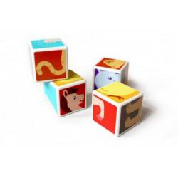 Geomag Magicube háziállatok 4 darabos mágneses kockaépítő szett - Geomag építőjátékok - Építőjátékok Geomag Magicube