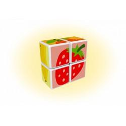 Geomag Magicube gyümölcsök 4 darabos mágneses kockaépítő szett - Geomag építőjátékok - Építőjátékok Geomag Magicube