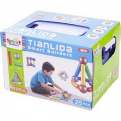 Mágneses építőjáték 25 darabos készlet dobozban - Építőjátékok - Építőjátékok