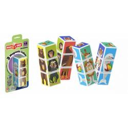 Geomag Magicube 3 darabos állatok mágneses kockaépítő - Geomag építőjátékok - Építőjátékok Geomag Magicube