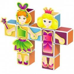 Geomag Magicube hercegnő 11 darabos mágneses kockaépítő szett - Geomag építőjátékok - Építőjátékok Geomag Magicube