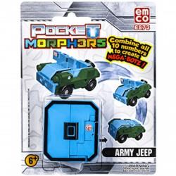 Pocket Morphers 0. Army Jeep - Jeep figura - Transformer/átalakuló robot játékok - Transformer/átalakuló robot játékok Pocket Morphers