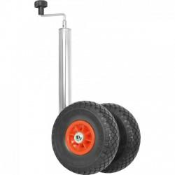 Utánfutó keréktámasz - Dupla kerékkel - 48mm - KERÉKTÁMASZ - KERÉKTÁMASZ