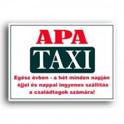 Rendszámtábla Apa taxi felirattal -Vicces meglepik -Vicces meglepik