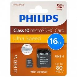 Philips microSDXC memóriakártya - Class 10 - 16GB Otthon Otthon