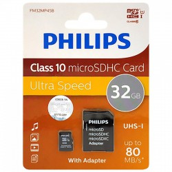 Philips microSDXC memóriakártya - Class 10 - 32GB Otthon Otthon