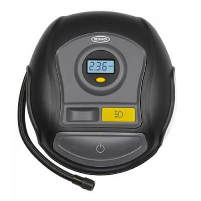 Ring RTC400 Kompresszor - Digitális Mérőóra + Lámpa - 12V - 6,9BAR - KERÉK