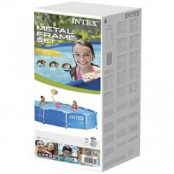 INTEX Csővázas medence szűrővel - 366x76 cm - BESTWAY strandcikkek - BESTWAY strandcikkek Intex