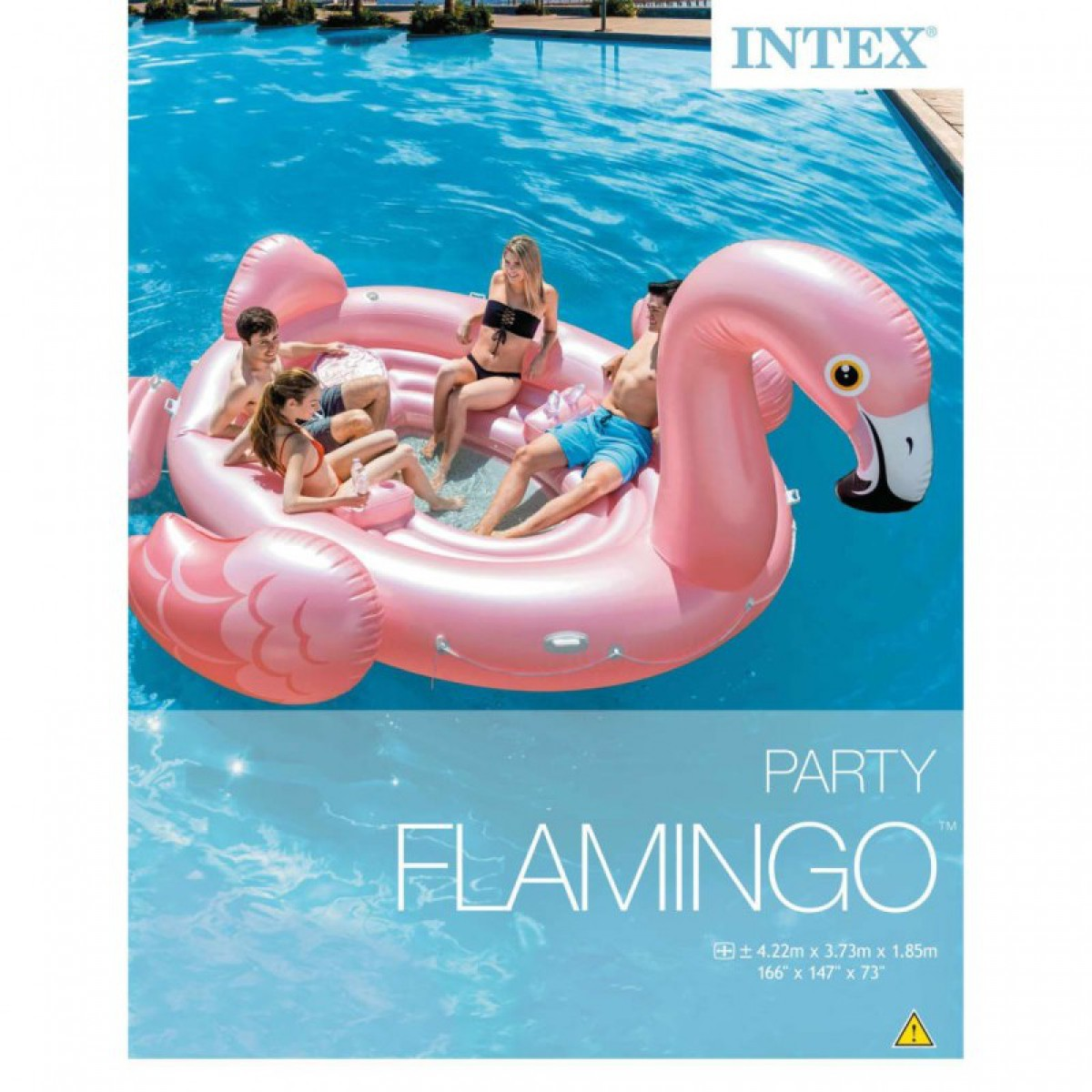 da00cbb32f INTEX Flamingó party sziget - 422x373x185 cm - BESTWAY strandcikkek ...