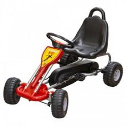 Fém pedálos gokart max. 30 kg-ig piros színben - Járművek - Járművek