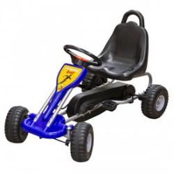 Fém pedálos gokart max. 30 kg-ig kék színben - Járművek - Járművek