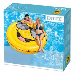 INTEX Smiley sziget gumimatrac - 173x27 cm - BESTWAY strandcikkek - BESTWAY strandcikkek Intex