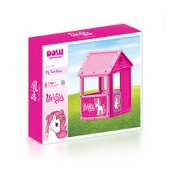 Dolu Unikornis első játszóházam rózsaszín 125х100х104 cm - Kerti és vízes játékok - Kerti és vízes játékok Dolu