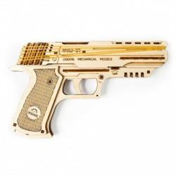 UGEARS Wolf-01 Pisztoly (mechanikus 3D modell) - Játék fegyverek - Játék fegyverek UGEARS