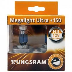 Tungsram Megalight Ultra +150% - 12V - H4 - 60/55W - H4 - H4