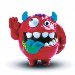Shake Headz - Rázós haverok Felháborító Ricky piros - SHAKE HEADZ - Rázós haverok játékok - Plüss és állat,-mesefigurák Shake Headz - Rázós haverok