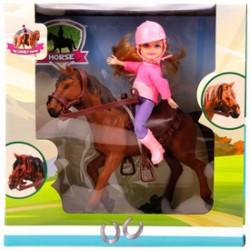 Lovagló baba - 20 cm, többféle változatban - Lányos játékok - Lányos játékok