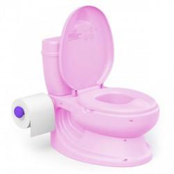 DOLU wc alakú bili öblítés hanggal - rózsaszín - Bébijátékok - Bébijátékok Dolu